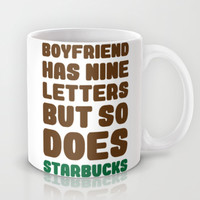 Starbucks not Boyfriends Mug by LookHUMAN