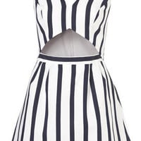 Petite Stripe Cut Out Sundress - New In - Topshop