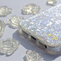 YOUR NAME Case, Sparkle iphone case, Glitter iphone, Bling iPhone case, iphone 5 case iPhone s case, Phone 5 Cover, Personalized iphone case