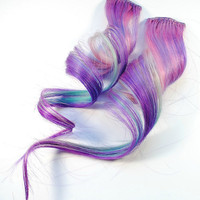 Plum Blossom / Human Hair Extension / Purple by MissVioletLace