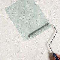 Graham & Brown Scrolled Leaf Paintable Wallpaper - Urban Outfitters