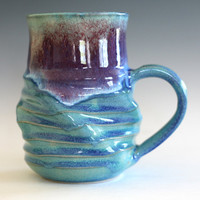Twisted Coffee Mug, 24 oz, handmade ceramic cup