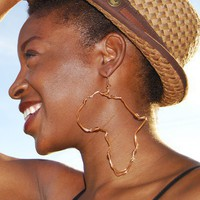 Origin  Large Africa Shaped Earrings by Orese on Etsy