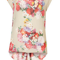Floral Print Fishtail Top - Tops - Clothing - Topshop