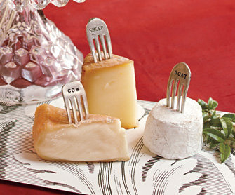 Vintage Silver Fork Cheese Markers 