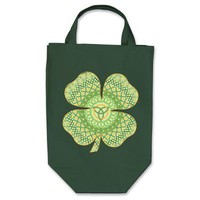Celtic Shamrock Dark Tote Bag from Zazzle.com