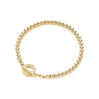 Tiffany & Co. - Tiffany Beads toggle bracelet in 18k gold, medium.