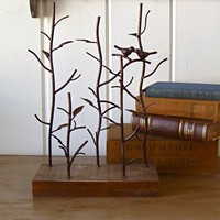 Cathy Bird Jewelry Stand Tree display by selinabeadsnbits on Etsy