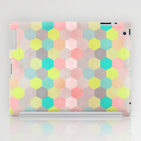 Pastel Hexagon iPad Case by Louise Machado
