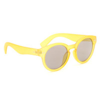 With Love From CA Preppy Round Sunglasses - Womens Sunglasses - Yellow - One