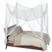 Four Corner Queen Ivory Bed Canopy No Roof