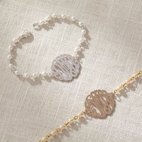 Initial Reaction Pearl Monogram Bracelet