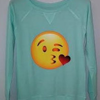 Long Sleeve Shirt - Kissing Emoji