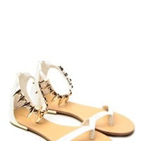 White Ambra Metallic Ankle Sandals @ Cicihot Sandals Shoes online store sale:Sandals,Thong Sandals,Women's Sandals,Dress Sandals,Summer Shoes,Spring Shoes,Wooden Sandal,Ladies Sandals,Girls Sandals,Evening Dress Shoes