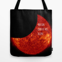Go Ahead and Look Tote Bag by Hoshizorawomiageteiru