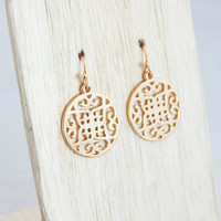 Antique Medallion Earrings