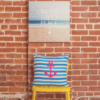 Leah Flores Happy Place X Beach Gallery Wrapped Canvas