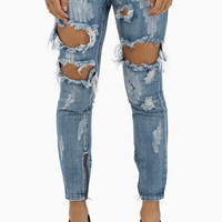 One Teaspoon Cobain Trashed Freebirds Pants $139