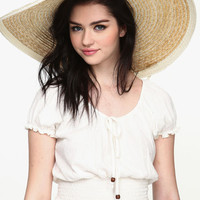 OVER-SIZED STRAW HAT