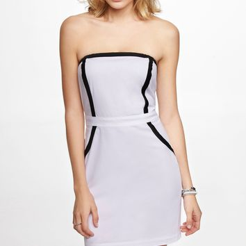 CONTRAST TRIM TUBE DRESS
