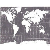 PRINT world map MEDIUM GREY 8x10 by thebigharumph on Etsy
