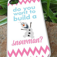 Frozen olaf quote - iPhone 4/4s/5/5c/5s Case - Samsung Galaxy S2/S3/S4 Case- Blackberry z10 Case- iPod 4/5 - Black or White
