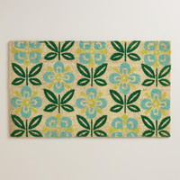 Sand Dollar Flower Doormat - World Market