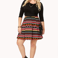 Eclectic Pleated Mini Skirt