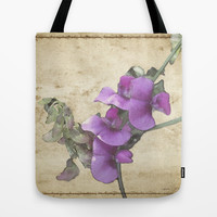 Sweet Pea Tote Bag by Elizabeth Gleason