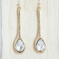 Crystal Cello Drop Earrings