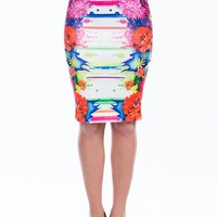 Make A Splash Floral Pencil Skirt