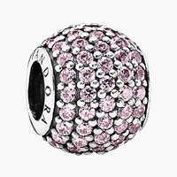 Women's PANDORA 'Pave Lights' Bead Charm - Sterling Silver/
