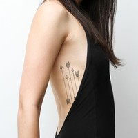Dart Arrows Temporary Tattoo Set | Threadsence