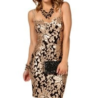 Linnea- Black/Gold Prom Dress