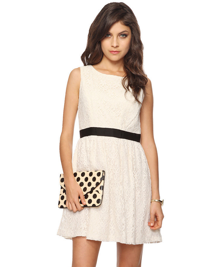 Lace Scoop Back Dress | FOREVER21 - 2015036193