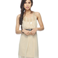 Embellished Crepe Chiffon Dress | FOREVER21 - 2000042206