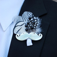 Chaplin  Boutonniere by HoneyandLaceDesigns on Etsy