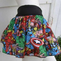 Captain America Thor Hulk retro Comic Book Skirt shirt S-1XL DiY Marvel Avengers | PoppysWickedGarden - Clothing on ArtFire