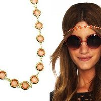 Furor Moda - Orange Jewel Head Piece