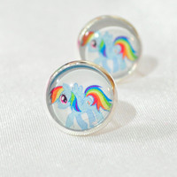 Rainbow Dash post back earring