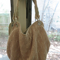 Vintage/Retro Knit Pouch Handbag by ChalkScene on Etsy