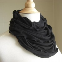 Infinity Scarf Black Jersey | Luulla