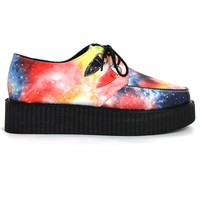New Concept Galaxy Print Creeper Platforms Shoes