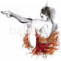 neoclassical improvisation or ballet moves by BalletArt on Etsy