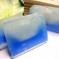 Handmade Soap Blue Wave Organic Light Lavender Scent 4 oz Bar | PinksPleasures - Bath &amp; Beauty on ArtFire