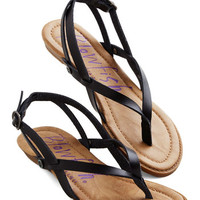 Camp Hardly Wait Sandal in Black | Mod Retro Vintage Sandals | ModCloth.com