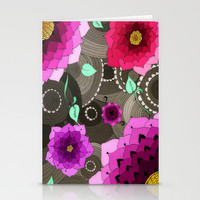 Concentric Floral Stationery Cards by DuckyB (Brandi)