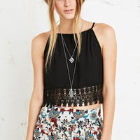 Staring at Stars Crochet Trim Camisole in Black - Urban Outfitters