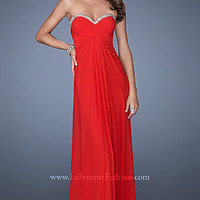 Strapless Sweetheart Neckline Evening Gown by La Femme