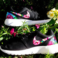 Customized Floral Nike Roshe Runs